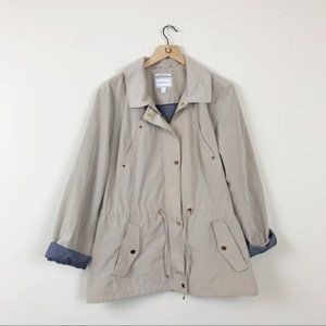 Charter Club Tan Water Resistant Anorak Jacket NWT